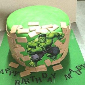 Hulk Themed Avengers theme Cake