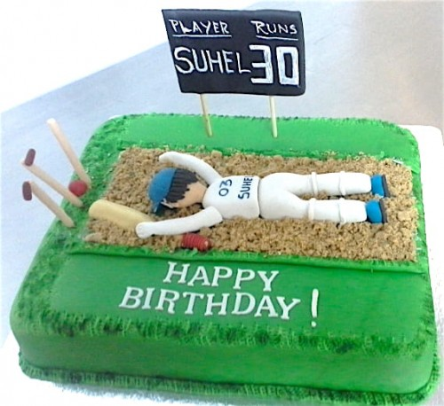 Terrific 30Th Birthday Cricket Cake Funny Birthday Cards Online Alyptdamsfinfo