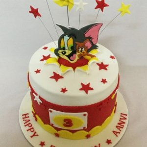 3rd Birthday Tom & Jerry theme Cake