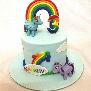Ponies Birthday Cake