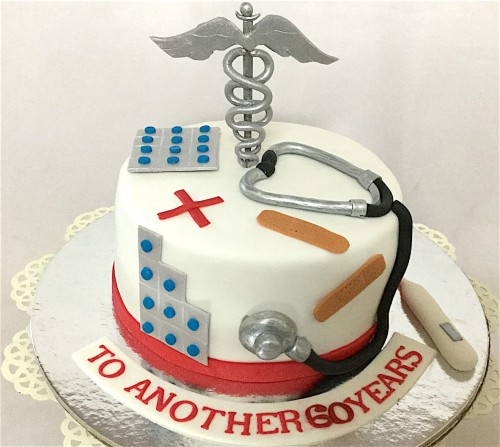 Phenomenal Happy Birthday Doctor Cake Funny Birthday Cards Online Overcheapnameinfo