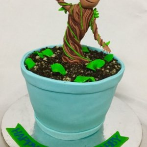 5th Birthday  Baby Groot theme Cake