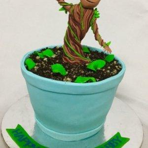 5th Birthday Baby Groot theme Cake