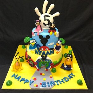 5th Birthday  Mickey Team theme Cake