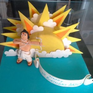 Birthday Cake for Arjun Theme