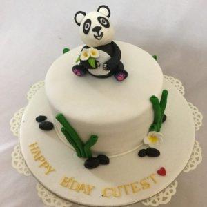 Panda Theme Birthday Cake