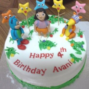 4th Birthday  DORA theme Cake