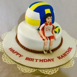 Volley Ball Cake Birthday Cake