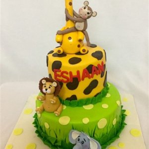 Happy Birthday Cute Animal Theme Cake