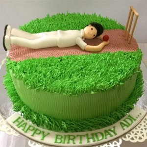 10th Birthday  Cricket theme Cake