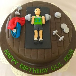 Gym theme Designer Birthday Cake