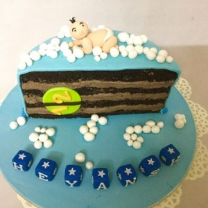 Half Month Birthday Cake