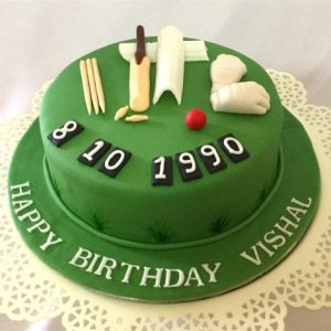 Birthday Cricket Cake