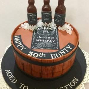 Customized 50th Birthday Cake
