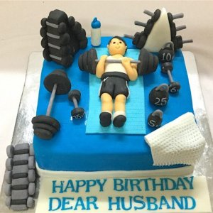 Workout in Gym Customized Birthday Cake