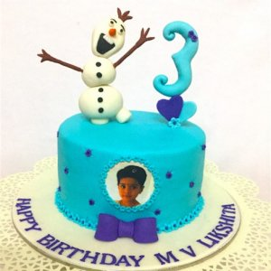 3rd Birthday Frozen theme Cake