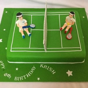 Sports theme cake for birthday celebrations
