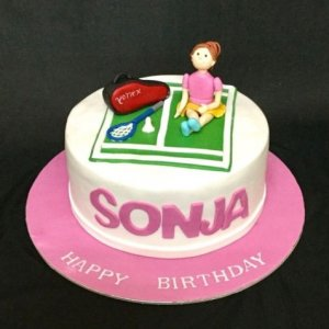 Tennis theme Birthday Cake