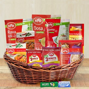 Best Gift For Mom Basket with Vegetarian Items