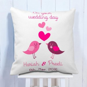 Personalised Cushion For Wedding