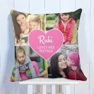 Personalised Cushion Daughter Loves Mother