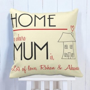 Personalised Cushion For Mom Love