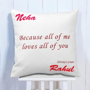 Personalised Cushion For Love