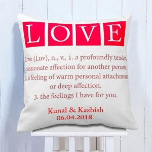 Personalised Cushion Message For Love