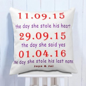 Personalised Cushion Memorable Days With Love