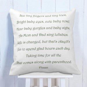 Personalised Cushion Love Mom & Dad