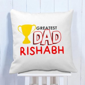 Personalised Cushion Greatest Dad