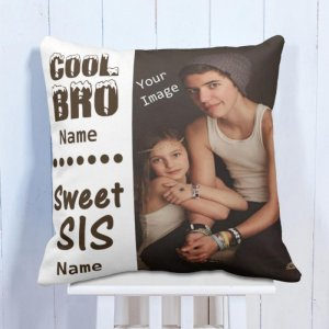 Personalised Cushion For Brother