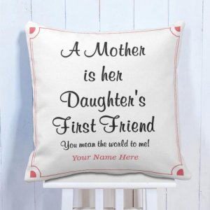 Personalized Cushion Mom is Friend