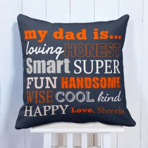 Personalised Cushion My Super Hero Dad