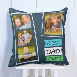 Personalised Cushion Best Father Memory