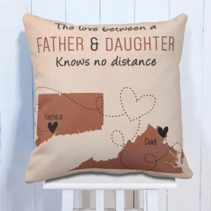 Personalised Cushion Father Love Daughter