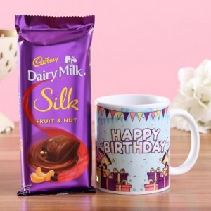 Birthday Wishes Mug Dairy Milk Silk