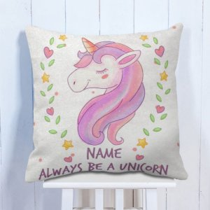 Personalised Cushion Be a Unicorn