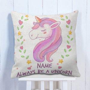 Personalised Cushion Be a Unicorn