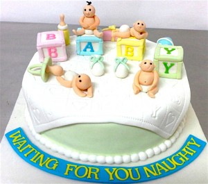 Baby Shower Naughty baby Cake