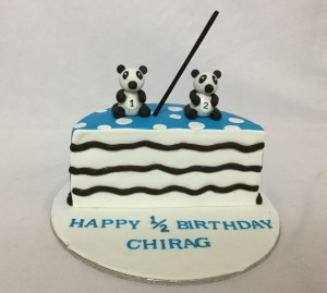 Half Birthday Cake Panda theme