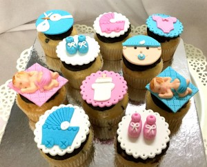 Adorable Baby Shower Cup Cakes - 10 nos