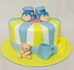Little Babie's Blue booties Birthday Cake
