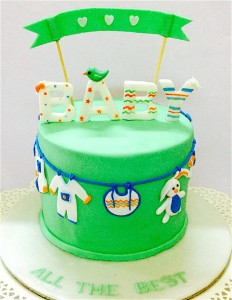 Little Tweety Baby Shower Cake