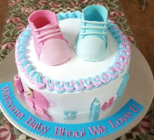 Pink & Blue Booty Baby Shower