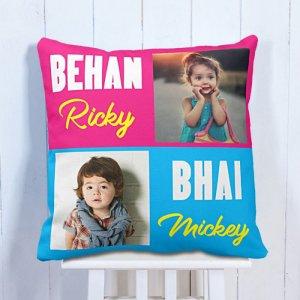 Personalised Cushion For Brother & Sister