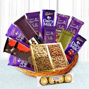 Dry Fruits N Chocolate Combo Hamper