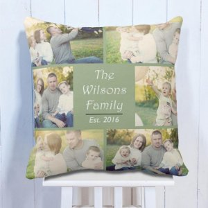 Personalised Cushion With Family