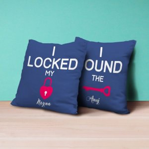 Personalised Cushion Key To My Heart - Set of 2