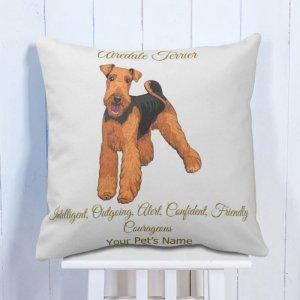 Personalised Cushion Airedale Terrier